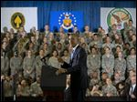 President Barack Obama speaks at US Central Command (CentCom) at MacDill Air Force Base, Fla., Wednesday, Sept. 17, 2014. Obama spoke to members of the military after consulting with military officials about the U.S. counterterrorism campaign against Islamic State militants.
