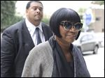 Soul singer Patti LaBelle arrives at the federal courthouse for jury selection.