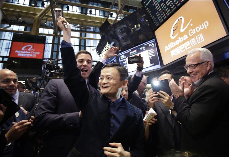 alibaba nyse opening bell