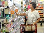 Frances Gurley shops at a Family Dollar store in Wilmington, N.C.