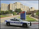 A patient in Texas Health Presbyterian Hospital in Dallas on Tuesday shows signs of the Ebola virus.