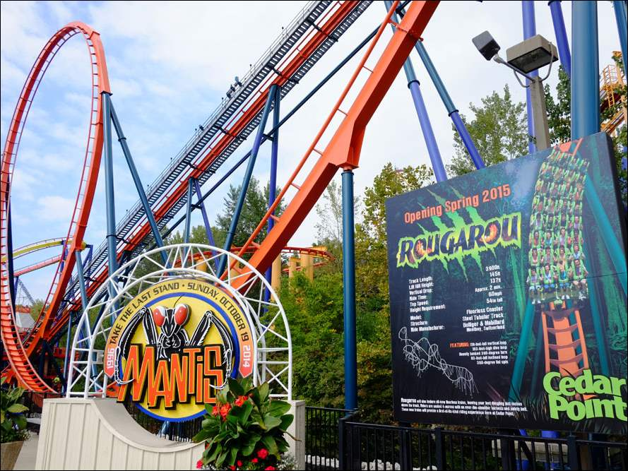 The Mantis Roller Coaster is being refurbished to become a new coaster called the Rougarou.