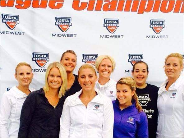 Tennis team members of the Shadow Valley Tennis and Fitness Club head off to Tucson soon to complete in nationals. From left are Jen Sanderson, MegEn Bucchi, Karleen Vrzal, Kendall Gigax, Nicole Ess er, Ann Kamenny, Maggie Cahill, and Brittany Barhite.