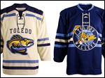 The Walleye revealed the two jerseys the team will wear at the first-ever ECHL outdoor hockey games that will be played during Winterfest.