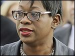 State Sen. Nina Turner (D., Cleveland) accuses Republican legislative colleagues and the secretary of state of creating confusion among voters.