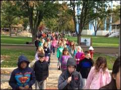 Sylvania's Maplewood Elementary School students practice an evacuation drill Friday, Oct., 17.