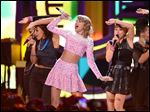 Taylor Swift will top a lineup of nearly 40 performers on New Year's Eve in New York City's Times Square in the annual countdown show hosted by Ryan Seacrest.