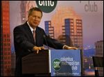 Ohio Gov. John Kasich speaks at the Columbus Metropolitan Club at the Renaissance Hotel Tuesday, Oct. 28.