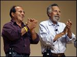 Brothers Ray, left, and Tom Magliozzi, co-hosts of National Public Radio's