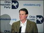 Ohio Democratic Party chairman Chris Redfern speaks at the Democratic election night event Tuesday in Columbus.