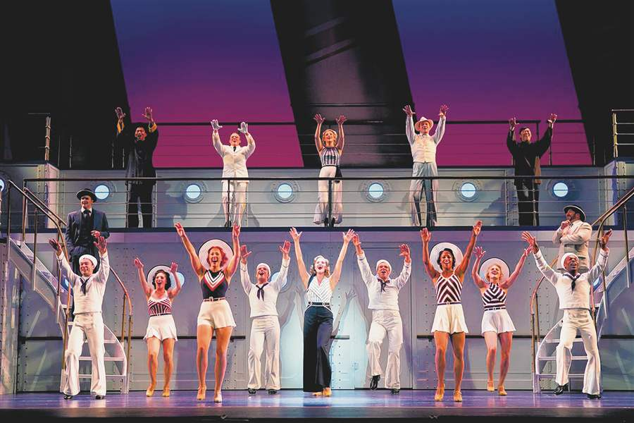 the national tour of the musical anything goes will be at the valentine theatre 400 n superior st at 7 pm sunday the musical made its broadway