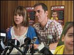 Frances O'Connor, left, and James Nesbitt in a scene from 'The Missing,' about a 5-year-old boy who disappears while on vacation in France with his family.