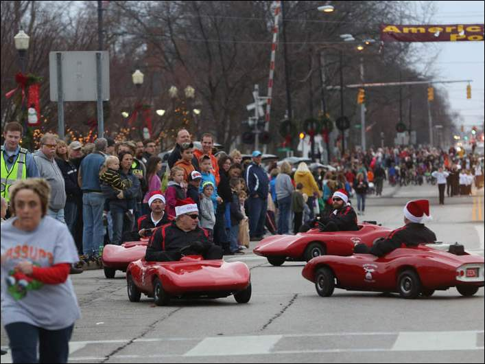 Hundreds of spectators gathered for this year's Downtown Perrysburg Inc. annual Home for the Holidays parade.