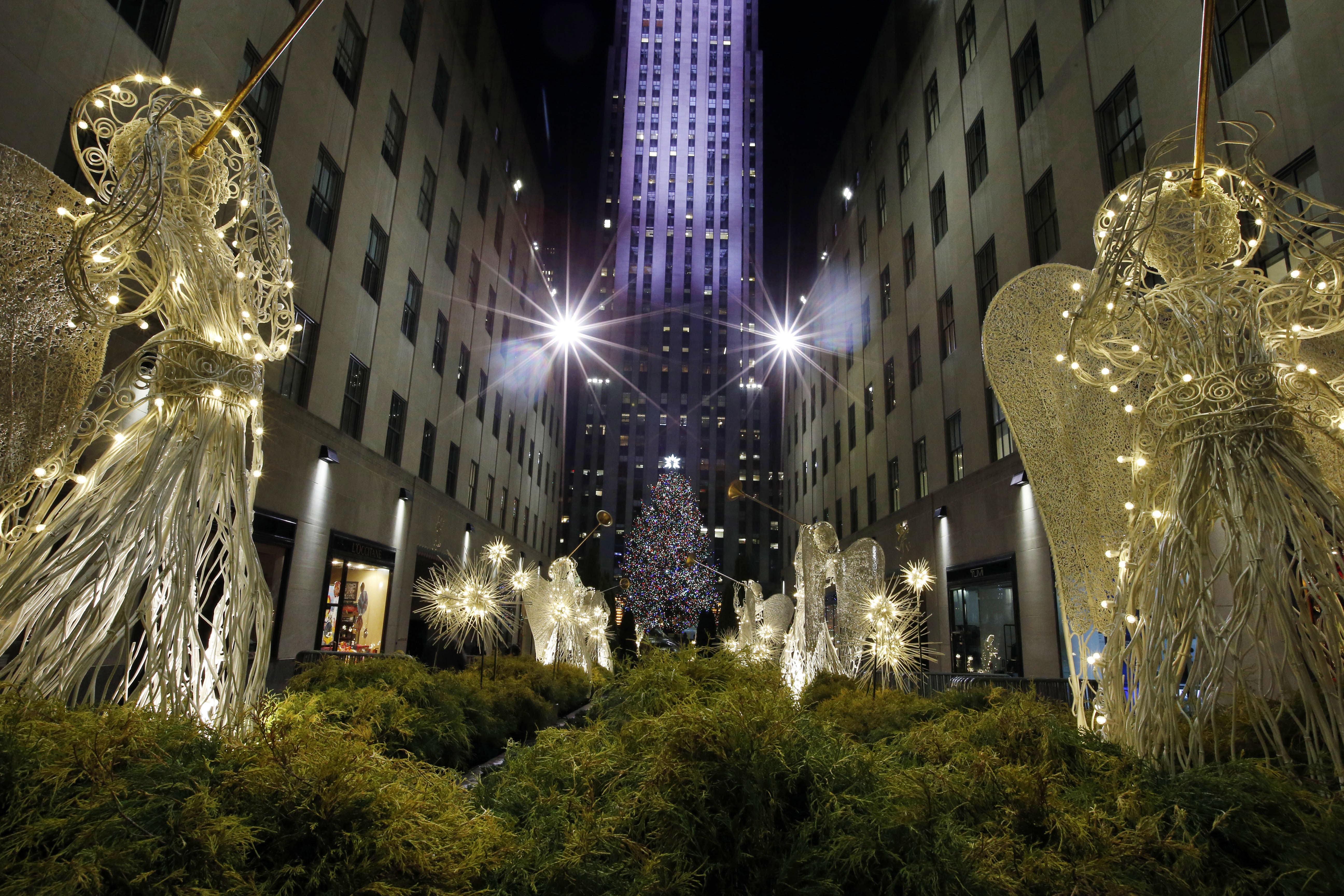 APTOPIX Rockefeller Tree Lighting