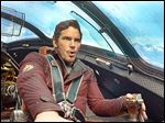 Chris Pratt as Peter Quill in a scene from 'Guardians of the Galaxy.'