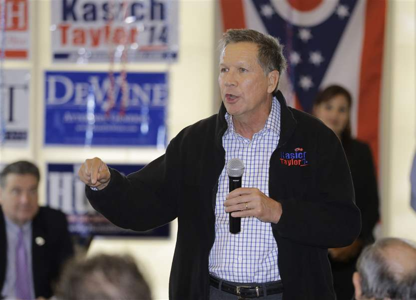 Gov. Kasich raised about 5 times as much as FitzGerald in ...
