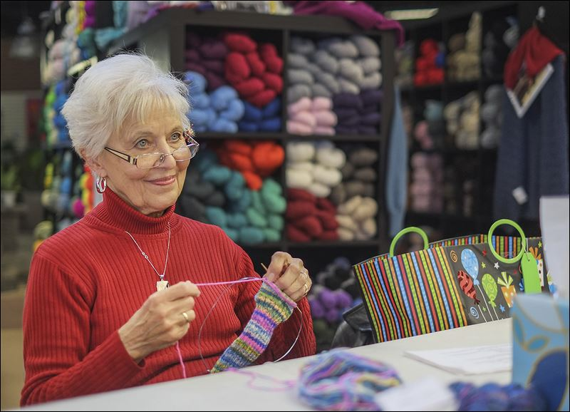 Group Of People Knitting : Close knit group does its part for salvation army clothing