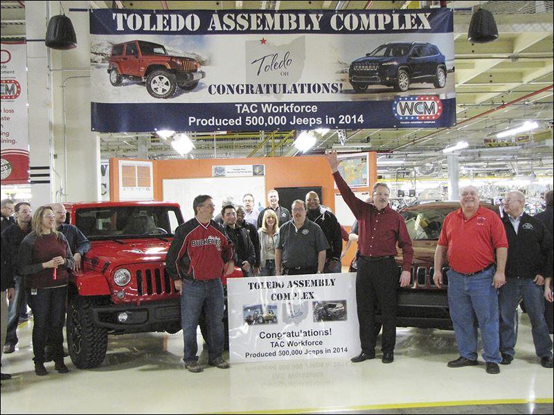 toledo builds 500 000th jeep of 2014 toledo blade. Black Bedroom Furniture Sets. Home Design Ideas