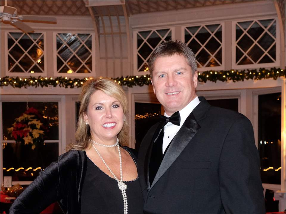 March and Bonnie Streeter during the Holly Ball -Mistletoe Masquerade.
