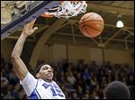 Center Jahlil Okafor, a projected NBA lottery draft pick, is just one threat on a particularly stout Blue Devils team.