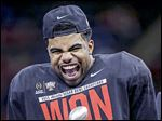 OSU's Ezekiel Elliott, celebrating after the Sugar Bowl, has rushed for 1,632 yards and 14 touchdowns.