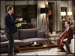 Matthew Perry and Thomas Lennon in a scene from 'The Odd Couple.'