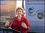 In a news conference at One Maritime Plaza, U.S. Sen. Debbie Stabenow (D., Mich.) says the runoff-reduction program will have benefits far beyond the city of Toledo.
