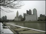 The skyline of downtown Columbus.