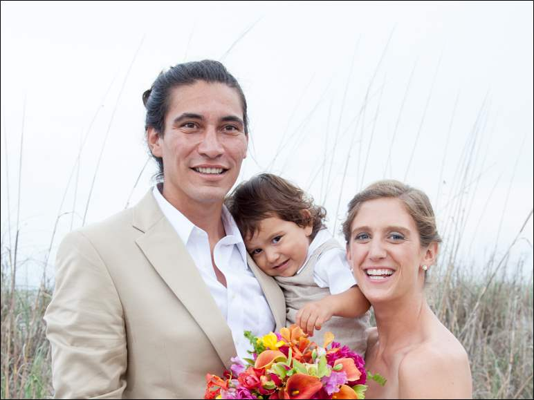 Christina Putman Reams and Konturi Hitorangi  and their son Haumaka Nui. May 25, 2014 at Folly Beach, S.C. Reception: Ocean front plus a Farewell Coffee at bride's grandmother, former Toledoan Smiley Putman, at her Folly Beach oceanfront condo. Bride's parents: Andrea Reams of Toledo and Ed Reams of Phoenix, Arizona Groom's parents: Luz Marina Hito and José Solar of Hanga Roa, Easter Island (Rapa Nui) Honeymoon: There was a week long family reunion during the wedding week, but Christy and Konturi also took an actual week long honeymoon in Jamaica. Residence: Easter Island (Rapa Nui)