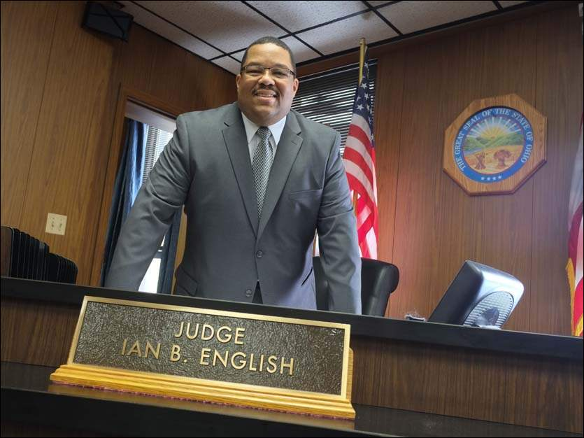 Judge-Elect Ian English is pictured in his courtroom on Feb. 6.