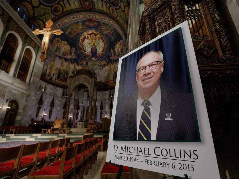 A photo of Mayor D. Michael Collins at Our Lady Queen of the Most Holy Rosary Cathedral.