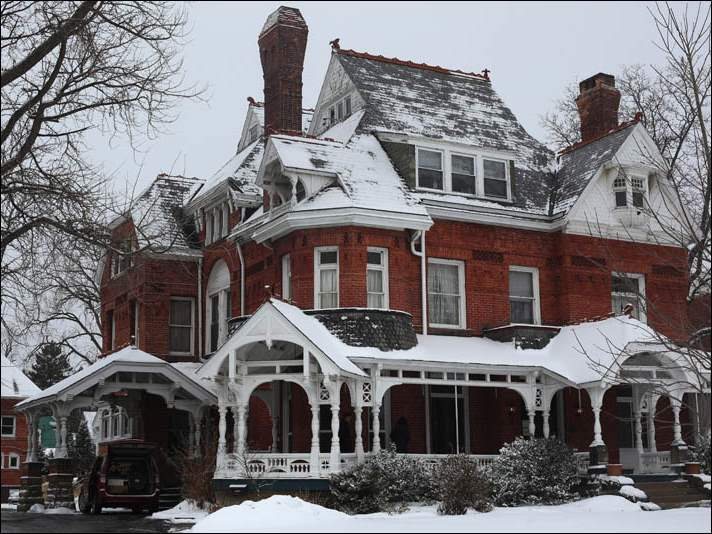 The Mansion View Inn estate sale Saturday, February 14, 2015, featured furniture and other items for sale from the historic home in Toledo's Old West End.