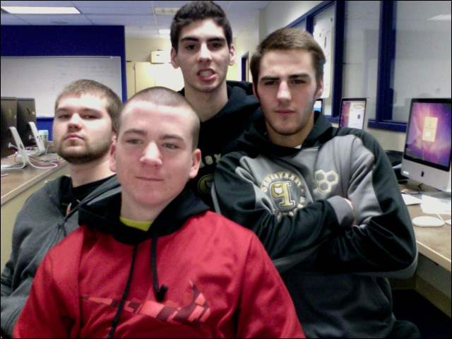 Perrysburg High School seniors are Matthew Waltermyer, Andrew Romanski, Nate Meyers, and John Smith