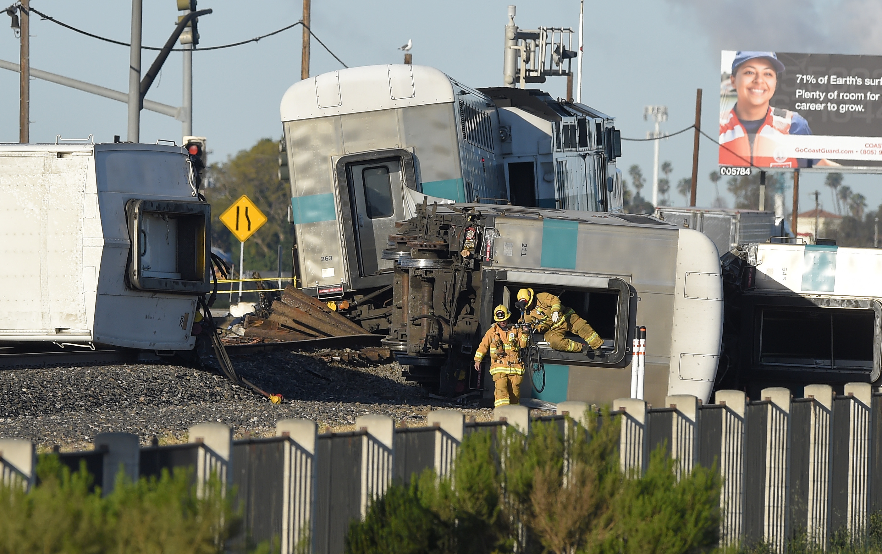 Metrolink train strikes truck in Southern California The
