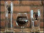Custome-made beer glasses for Black Cloister.