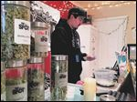 Matt Beizaee is an employee of the Spot 420, a recreational marijuana dispensary in Pueblo West, Colo. (