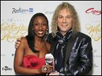British performer Beverley Knight, left, and U.S. musician David Bryan, won Best New Musical at The Whatsonstage Awards last month.