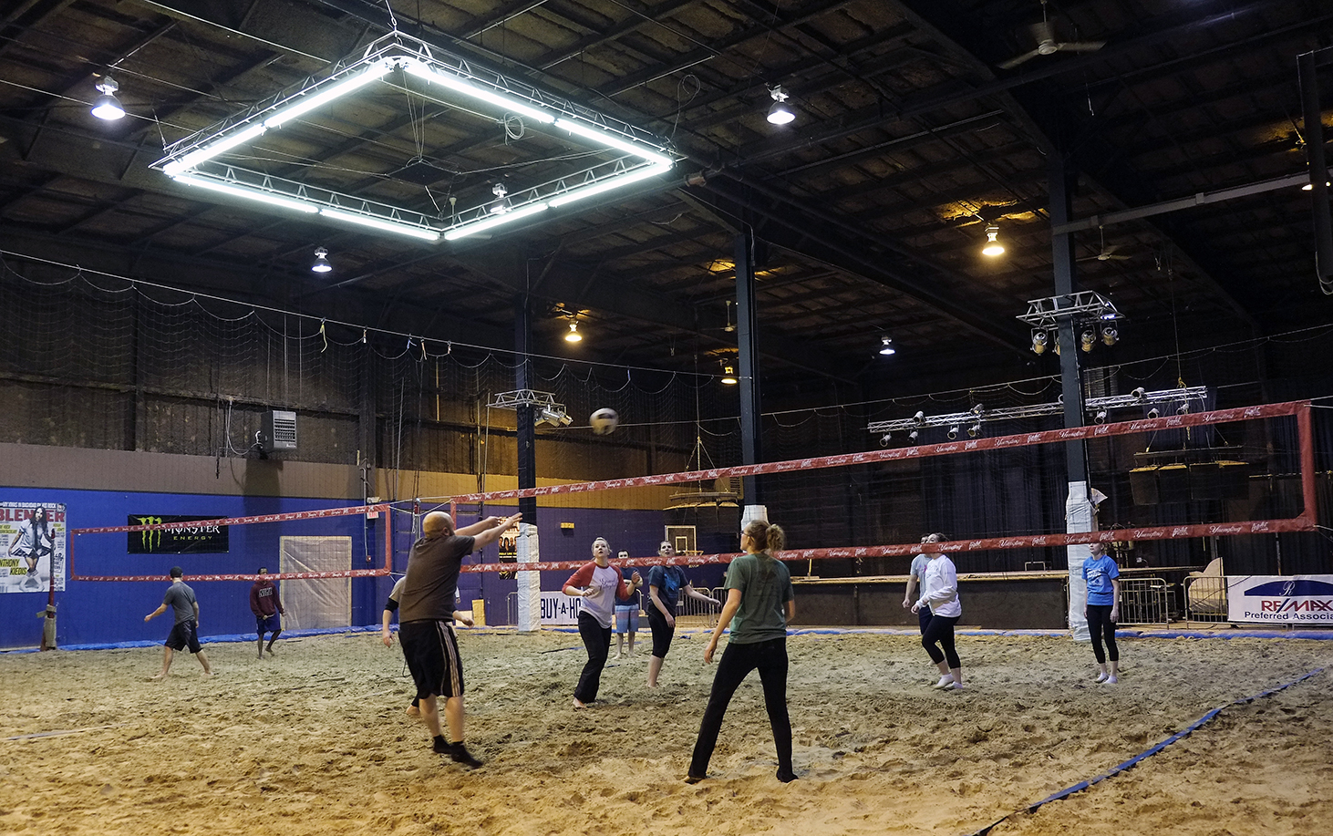 verdict still out on indoor sand volleyball court at bar