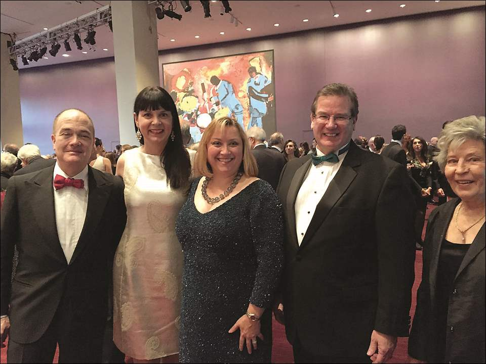 From left are, Allan Block, Susan Block, Clare Gorski, Joel Gorski, and Luci Gorski at the New York City Opera Renaissance Gala.