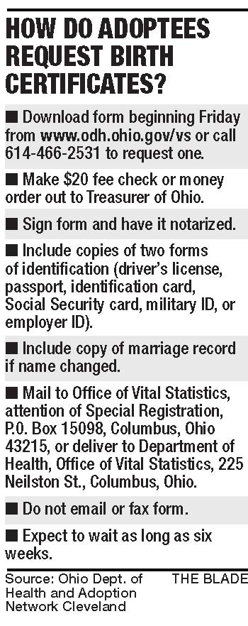 Ohio To Break Open Seals Of Secrecy For Adoptees The Blade