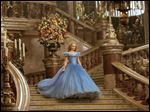 Lily James as Cinderella in Disney's live-action feature inspired by the classic fairy tale 'Cinderella.'