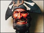 Eddie York made a bust of a pirate forAli  Joseph's Angry Sea bar, later named Mugshots.