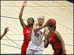 Owens' Ashley Tunstall has averaged 29 points and 10 rebounds in the Express' first two tournament games.