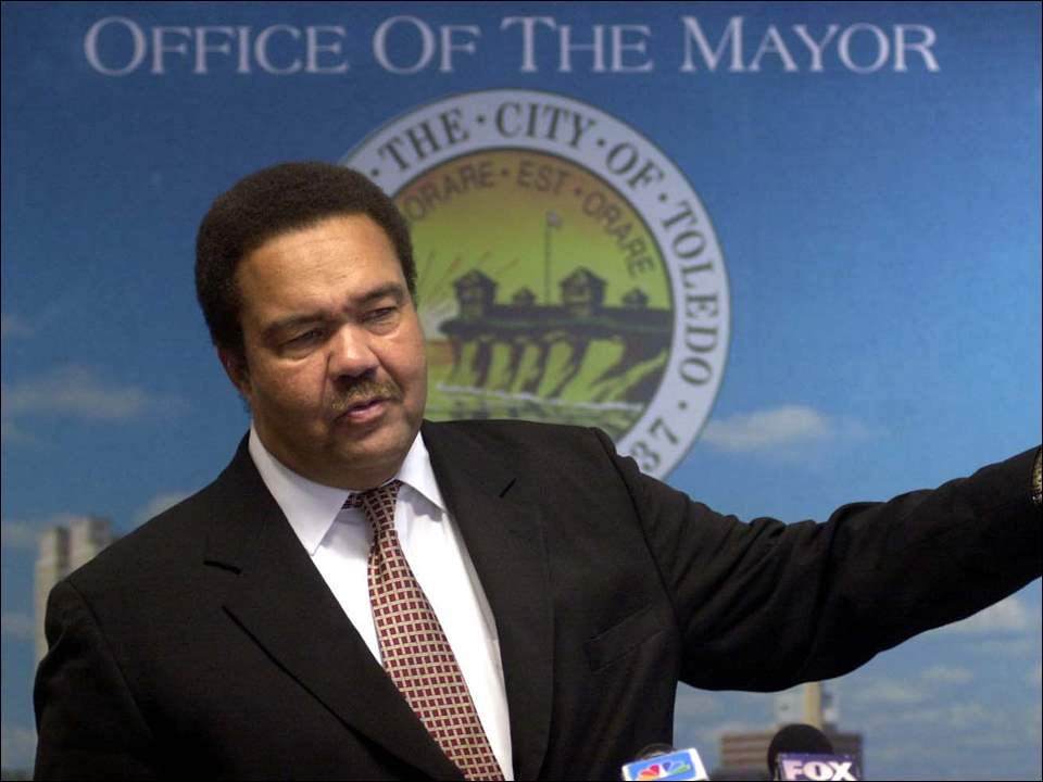 Mayor Jack Ford during a press conference at the Mayor's office.