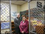 Aaron Nolan, Lucas County's director of inmate services,  and University of Toledo law professor and attorney Deborah Rump are revamping the jail's law library.