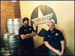 Kyle DeWitt, left, and Tim Schmidt are co-founders of Tecumseh Brewing Co.