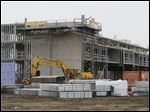The Holiday Inn Express and Suites is progressing quickly in Perrysburg.