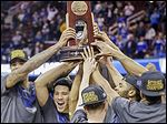 Kentucky is the third team to make the Final Four undefeated since the 1976 Indiana Hoosiers won it all.