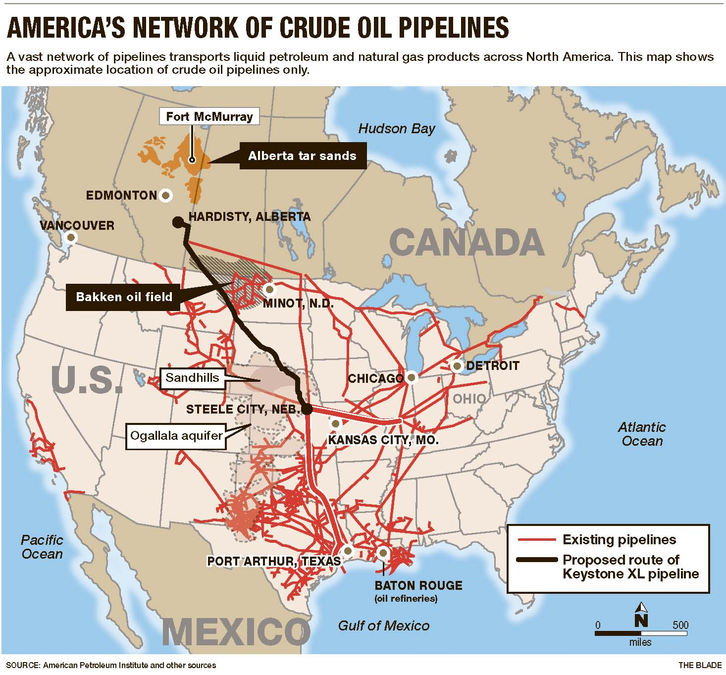 Recent Derailments Have Raised Questions Of Safety Method Of - Oil pipeline map north america