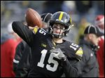 In 25 career games at Iowa, Jake Rudock threw for 4,819 yards, 34 touchdowns, and 18 interceptions.